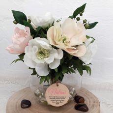 60th Birthday Anemone Berry Flower Mix in Vase - Pink
