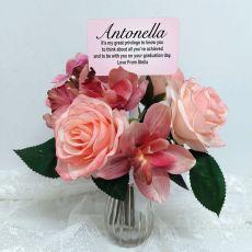 Graduation Rose Cymbidium Bouquet with Personalised Picket