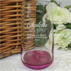 Flower Girl Engraved Personalised Glass Tumbler 400ml