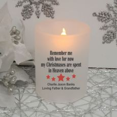 Christmas In Heaven Memorial Tea Light Candle Holder