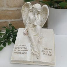 Memorial Angel on Inspirational Book