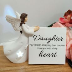 Personalised Daughter Light Me Up LED Angel