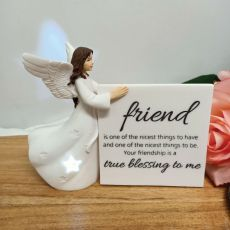 Personalised Friend Light Me Up LED Angel