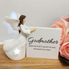 Personalised Godmother Light Me Up LED Angel