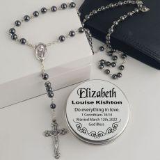 Hematite Rosary Beads - Bridal Charm Wedding Gift
