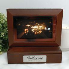 100th Wooden Photo Keepsake Trinket Box