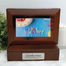 1st Wooden Photo Keepsake Trinket Box