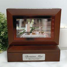 1st Holy Communion Wooden Photo Keepsake Trinket Box