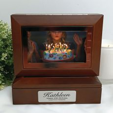 40th Wooden Photo Keepsake Trinket Box