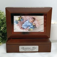 Baby Wooden Photo Keepsake Trinket Box