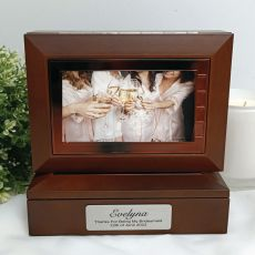 Bridesmaid Wooden Photo Keepsake Trinket Box
