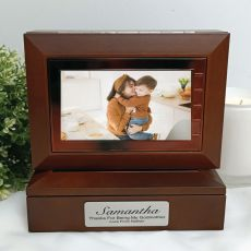 Godmother Wooden Photo Keepsake Trinket Box