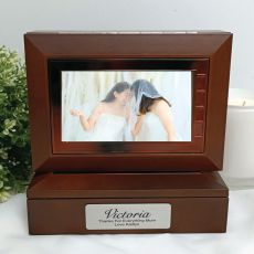 Mother of the Bride Wooden Photo Keepsake Trinket Box