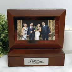 Mother of the groom Wooden Photo Keepsake Trinket Box