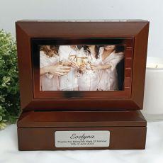 Maid of honour Wooden Photo Keepsake Trinket Box