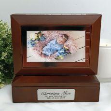 Naming Day Wooden Photo Keepsake Trinket Box