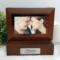 Nana Wooden Photo Keepsake Trinket Box