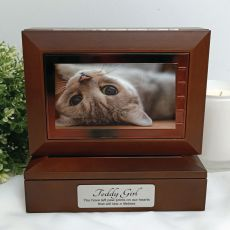Pet Wooden Photo Keepsake Trinket Box