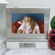 90th Photo Keepsake Diamente Trinket Box