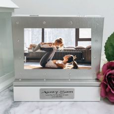 Aunt Photo Keepsake Diamente Trinket Box
