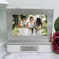 Bridesmaid Photo Keepsake Diamente Trinket Box