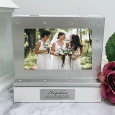Bridesmaid Photo Keepsake Diamente Trinket Box