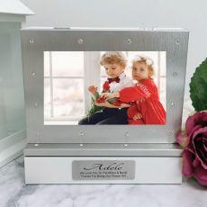 Flowergirl Photo Keepsake Diamente Trinket Box