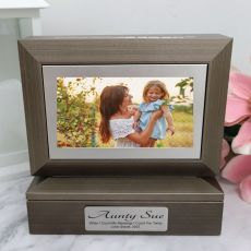 Aunt Photo Keepsake Trinket Box - Charcoal Grey