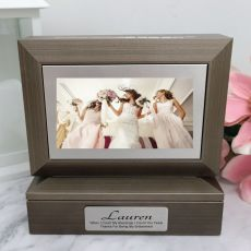Bridesmaid Photo Keepsake Trinket Box - Charcoal Grey