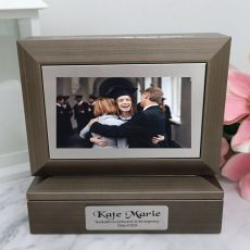 Graduation Photo Keepsake Trinket Box - Charcoal Grey