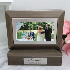 Mother of the groom Photo Keepsake Trinket Box - Charcoal Grey