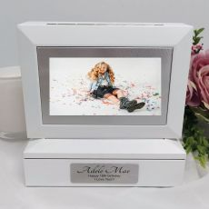 16th Photo Keepsake Trinket Box - White