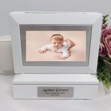 1st Photo Keepsake Trinket Box - White
