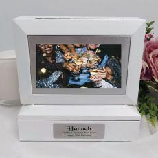 50th Photo Keepsake Trinket Box - White