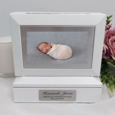 Baby Photo Keepsake Trinket Box - White