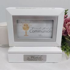Communion Photo Keepsake Trinket Box - White