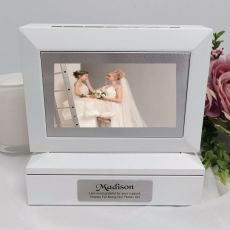 Flowergirl Photo Keepsake Trinket Box - White
