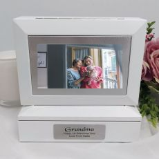 Grandma Photo Keepsake Trinket Box - White
