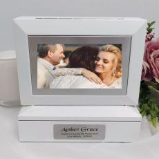 Mother of the bride Photo Keepsake Trinket Box - White