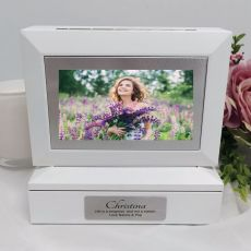 Personalised Photo Keepsake Trinket Box - White