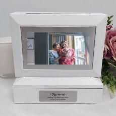 Nana Photo Keepsake Trinket Box - White