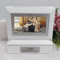 Pet Memorial Photo Keepsake Trinket Box - White