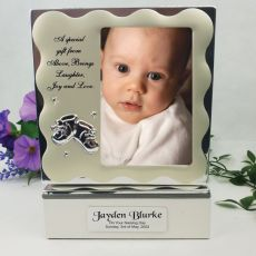 Personalised Naming Day Keepsake Box with Photo Lid