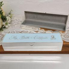 Baby Boy Birth Certificate Keepsake Box