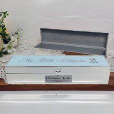 Personalised Birth Certificate Keepsake Box Blue