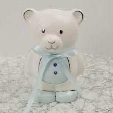 Baby Boy Teddy Money Box