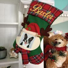 Personalised Pet Photo Christmas Stocking - Green