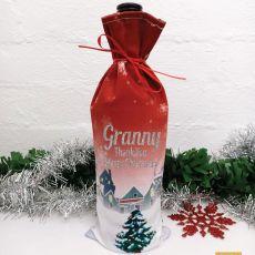 Grandma Christmas Wine Bottle Cover - Christmas Village