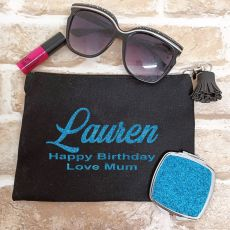 Personalised  Make Up Bag & Mirror Set