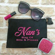 Personalised Nana Make Up Bag & Mirror Set
